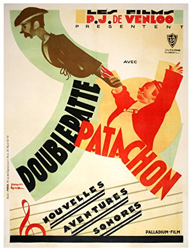 DOUBLEPATTE ET PATACHON (ca. 1930) French grande affiche poster / art by Jacques Faria