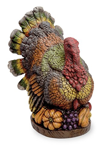 Roosting Turkey On Autumn Harvest 11 x 12 inch Thanksgiving (Caras De Calabazas De Halloween)