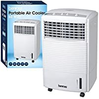 BENROSS PORTABLE WATER EVAPORATIVE 3 SPEED OSCILLATING FAN AIR COOLER COLD WITH TIMER 60w 7 LITER TANK