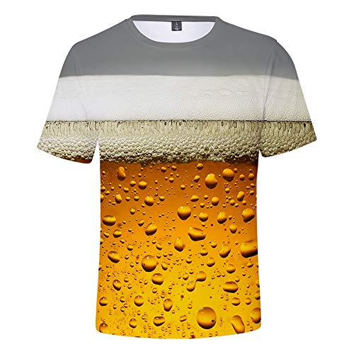 (Men's Beer Festival Blouse Tops,MmNote Round Neck Fashion Breathable Cool Quick Classic Fit Short Sleeve Gray)