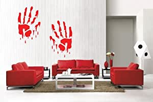 Newclew Halloween bloody hands removable Vinyl Wall Decal Home Décor Large