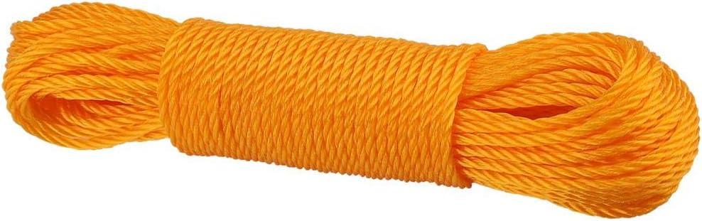 20M Multi-Fonctionnel Corde De Cordage en Nylon Corde /À Laver Ligne descalade Traction Lier lombre Net Corde pour Camping en Plein Air Jardin Garage Corde /À Linge Orange