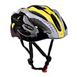 MonkeyJack Cycling Bicycle Helmet Honeycomb Type Mountain Bike Racing Breezier Helmet Unisex Adult Safety Protective Yellow Free Size Breather Durability Comfortable Cool