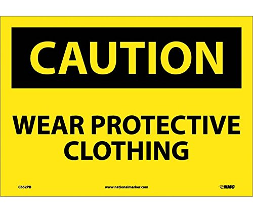 Caution, WEAR Protective Clothing, 10X14, PS Vinyl
