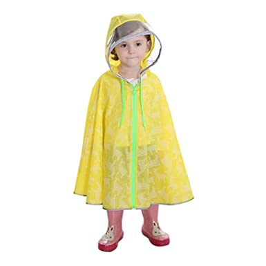 Deylaying Niños Impermeable Encapuchado Capote Ropa Impermeable ...