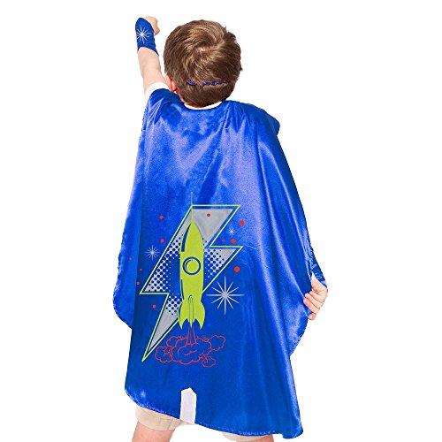 Blue Rocket Superhero