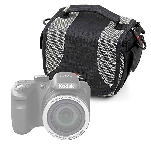 Portable Carry Case With Padded Interior And Shoulder Strap for the Kodak PixPro AZ401 & Mini Shot - by (Kodak Strap)