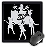 3dRose LLC 8 x 8 x 0.25 Inches Mouse Pad, Girls Rock Band (mp_41531_1)