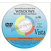 BOOT DISK for RESTORE & RECOVERY for WINDOWS VISTA 32 bit