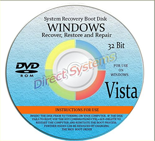 BOOT DISK for RESTORE & RECOVERY for WINDOWS VISTA 32 bit by DirectSystems