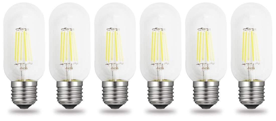 iRotYi (6個パック) 調光機能付き 4W AC 120V LED フィラメントライト クリアチューブ電球 T45、ウォームホワイト 2700 ケルビン 400LM、E26ベースランプ、40W白熱電球交換用 Pack of 6 B07NY1YQRD クールホワイト Pack of 6