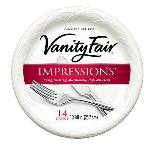 Vanity Fair Impressions Disposable Plates