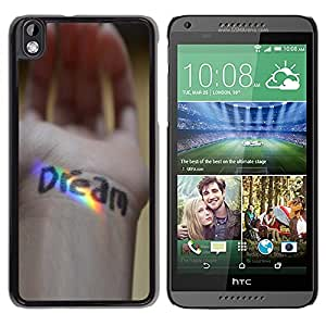Stuss Case / Funda Carcasa protectora - Dream Message Hand Rainbow Spectrum - HTC DESIRE 816