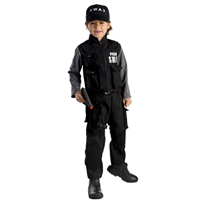 Kid's Jr. SWAT Team Costume By Dress Up America: Toys & Games