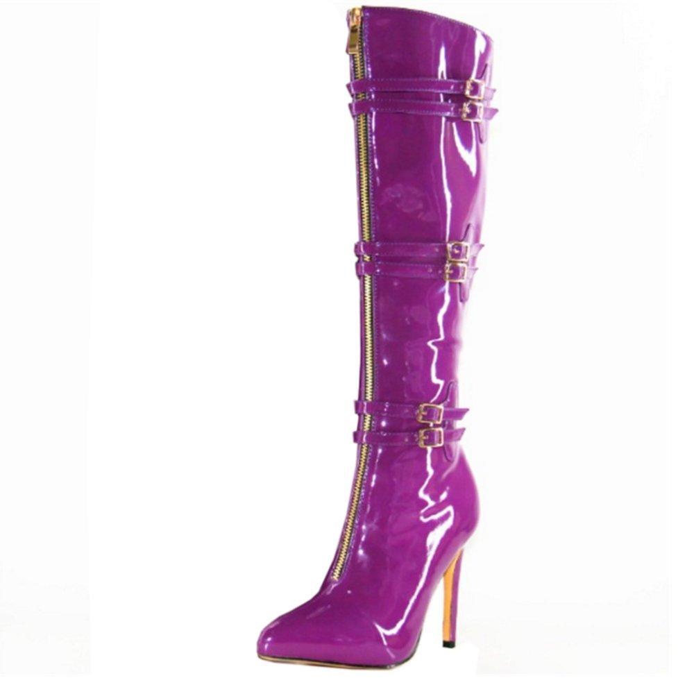 Zanpa Donna Inverno Scarpe Mode Partito Boots tacco a spillo Purple