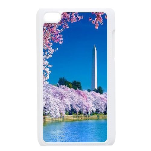 Custom Cherry blossoms Phone Case for iPod touch4, Cherry blossoms Ipod Cell Phone Case, Personalized Cherry blossoms touch4 Case