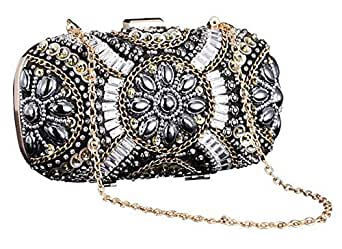 Polyester Bag For Women,Black - Clutches