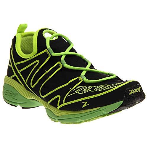 Zoot Men's Ultra Kalani 3.0 Running Shoe,Black/Safety Yellow/Green Flash,11 M US