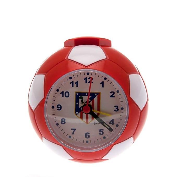 Atletico Madrid FC - Reloj despertador (9 x 9cm) (Rojo/Blanco ...