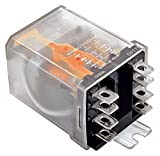 120VAC, 8-Pin Side Flange Enclosed Power Relay; Electrical Connection: 1/4'' Tab Terminal
