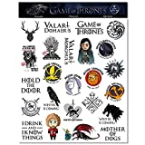 S-021 24pcs Game of Thrones Season 8 Stickers MacBook Pro Vinyl Stickers MacBook Air Stickers for Water Bottles Hydro Flask Stickers Vsco Stickers Laptop Stickers