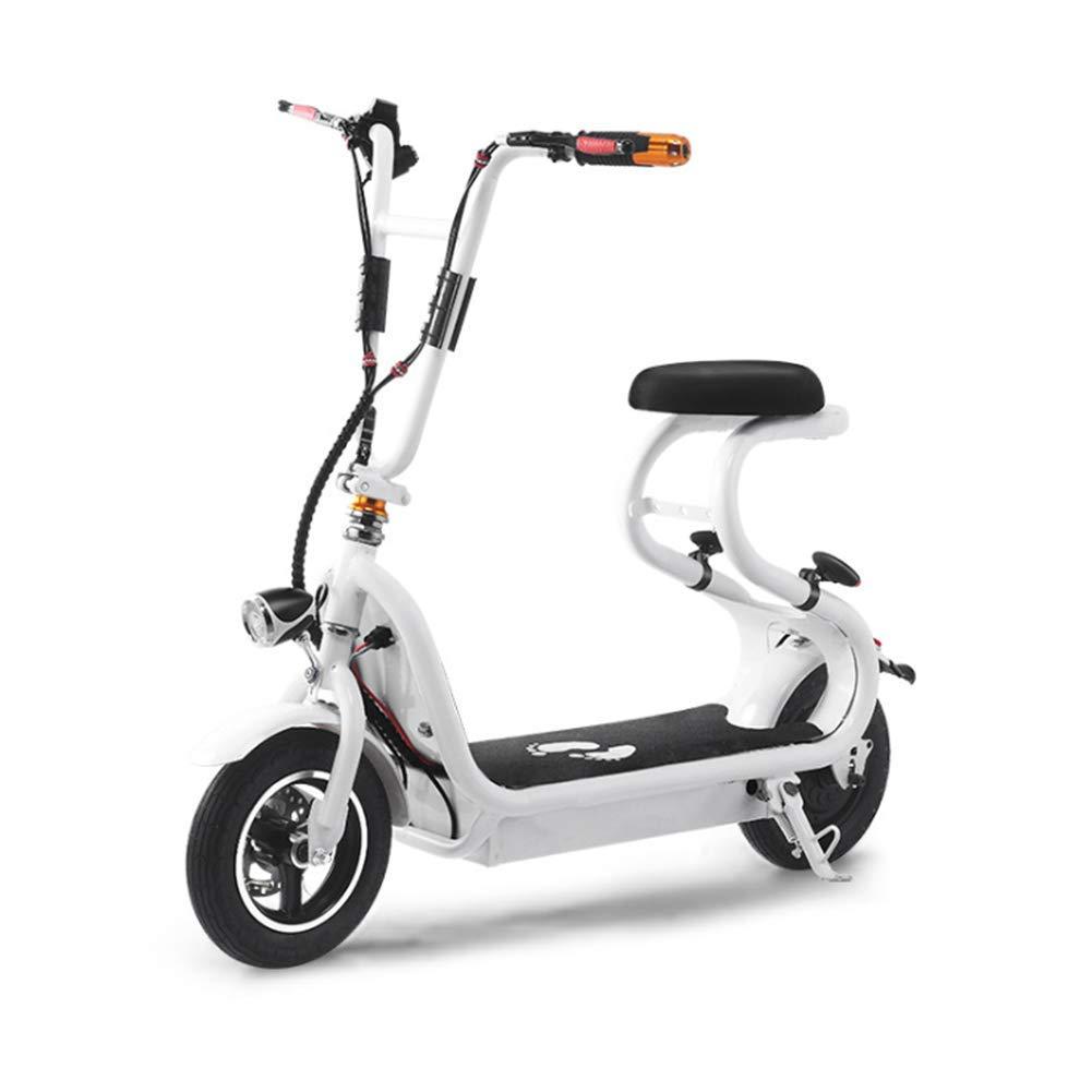 OOBY Mini Scooter para Adultos Pequeño Coche Eléctrico Harley (Rojo, Negro, Blanco),White: Amazon.es: Deportes y aire libre