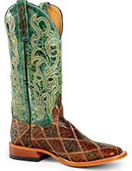 Horse Power Mens Patchwork Western Boot Square Toe - Hp1075 Move