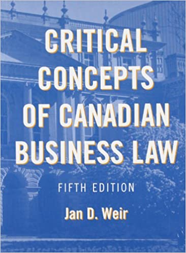 canadian business law 5th edition