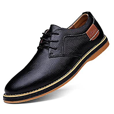 Amazon Com Tsiodfo Men S Dress Shoes Black Brown Genuine Cow