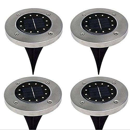 Zehui - Lámpara de bajo piso con 12 LED de energía solar para exteriores, ideal para decoración de céspedes en el...
