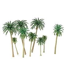 CGTOLOS 15 unids Miniatura Paisajismo Diseño Modelo Árbol de Plástico Palmeras Tren Coconut Rainforest Home Garden Decoration