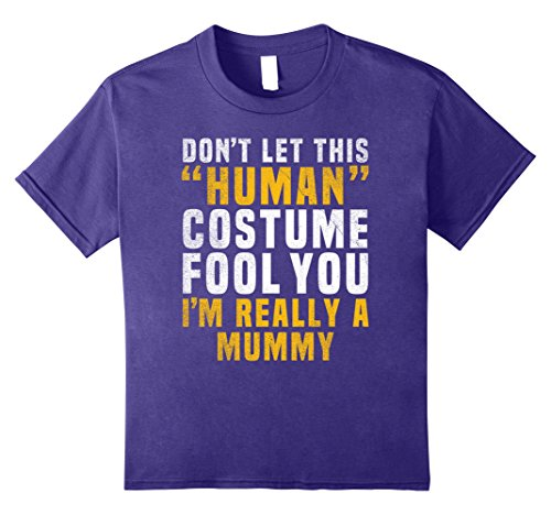 Diy Mummy Costumes For Adults (Kids Mummy Funny Halloween Shirt Costume Easy for Moms Kids Men 10 Purple)