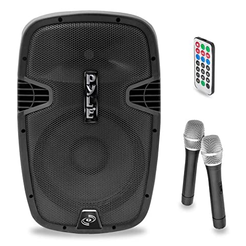 Pyle PPHP159WMU Powered Bluetooth PA Active Speaker System - Stage Loudspeaker Monitor with 15 Inch Bass Subwoofer Built in USB for MP3 Amplifier - DJ Party Sound Equipment Stereo Amp Sub for Concert Audio or Band (Subwoofer And Amp 15)