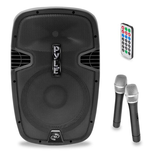 Pyle PPHP159WMU Powered Bluetooth PA Active Speaker System - Stage Loudspeaker Monitor with 15 Inch Bass Subwoofer Built in USB for MP3 Amplifier - DJ Party Sound Equipment Stereo Amp Sub for Concert Audio or Band Music by Pyle