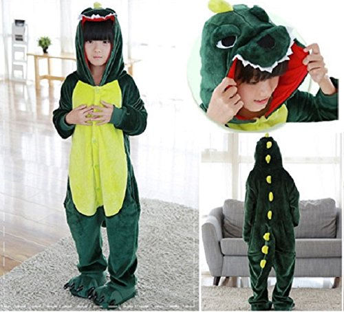 CJB Dinasaur Sleepwear Costumes Onesie Pajamas for Kids Green 6T (US (Dinasaur Costumes)
