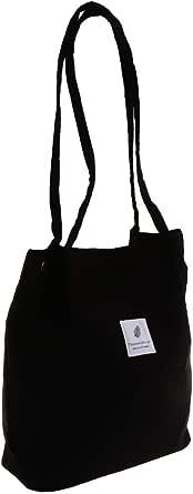 F Fityle Retro Women's Durable Canvas Tote Large Capacity Handbag Corduroy Casual Shoulder Bags