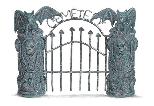 Grasslands Road Halloween Spooky Town Cemetery Gate and Fence Set. # 470865 (Border Creepy Fence)