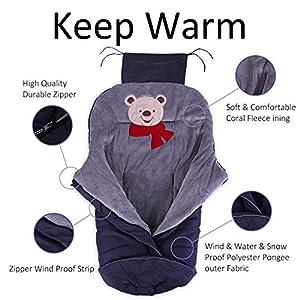 Footmuff for Stroller,Baby Sleeping Bag Universal Waterproof Baby Bunting Bag(Navy,Large)