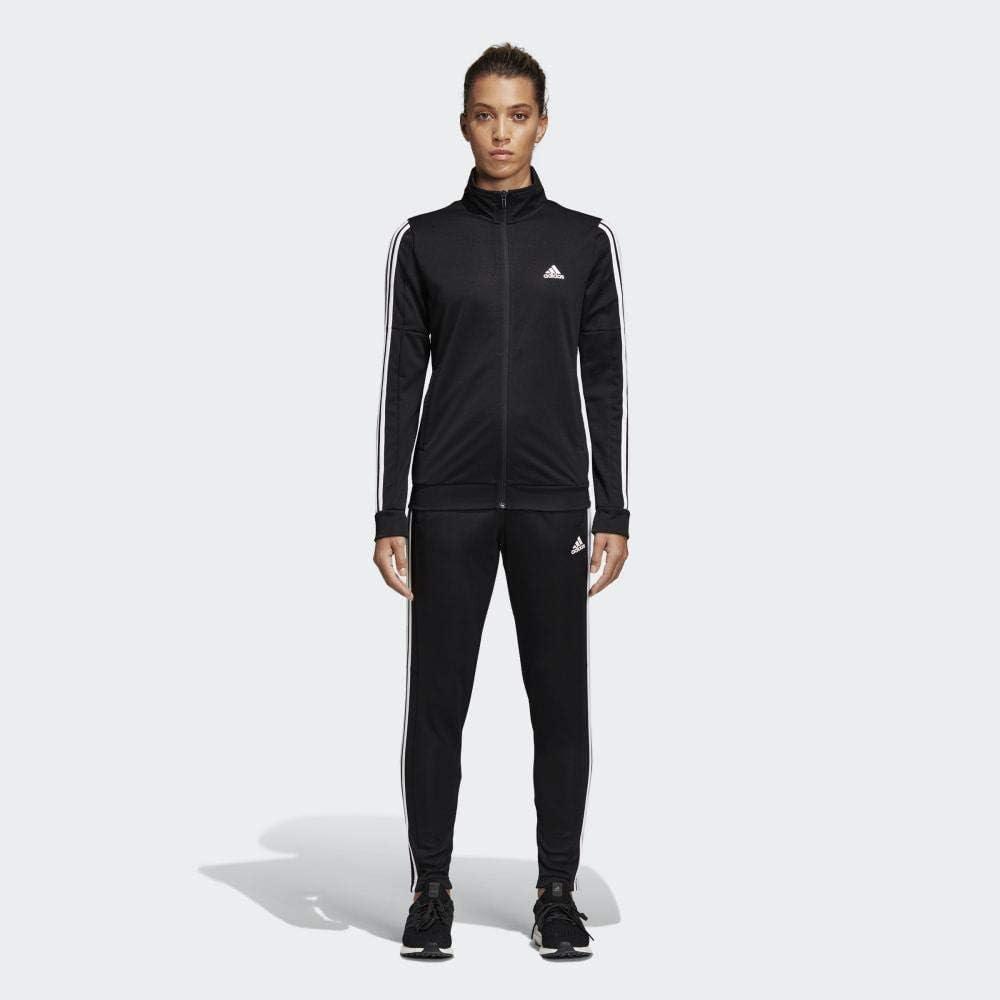 adidas WTS Team Sports Chándal, Mujer, Black/Black/White, L/L ...