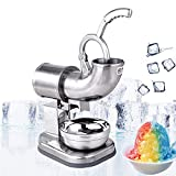 shaved ice machine industrial - Zorvo Commercial Ice Shaver Industrial Quality 400lbs/h Stainless Ice Shaver Machine Snow Cone Maker Shaved Icee Electric Crusher Electric Snow Cone Maker(Shipping from US)