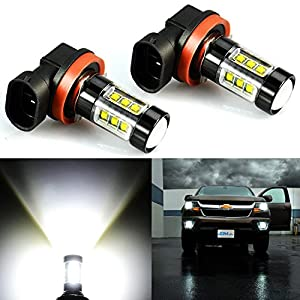 JDM ASTAR Extremely Bright Max 80W High Power H11 LED Fog Light Bulbs for DRL or Fog Lights, Xenon White (H11)