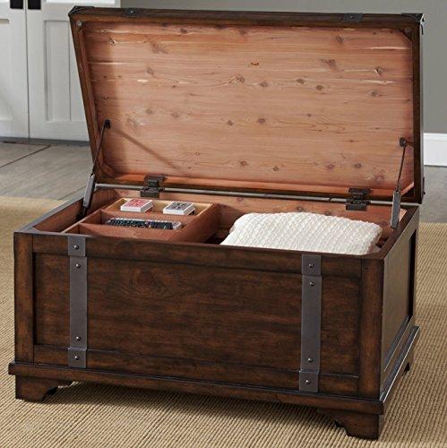 """Liberty Furniture INDUSTRIES 316-OT1010 Aspen Skies Storage Trunk, 38"""" x 22"""" x 20"""", Russet Brown"""