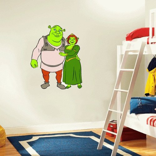 Shrek Fiona Cartoon Wall Decal Sticker 20
