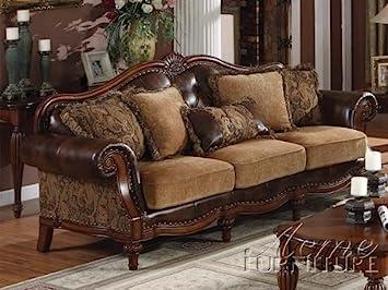 acme 05495 dreena bonded leather sofa with five pillows. Interior Design Ideas. Home Design Ideas