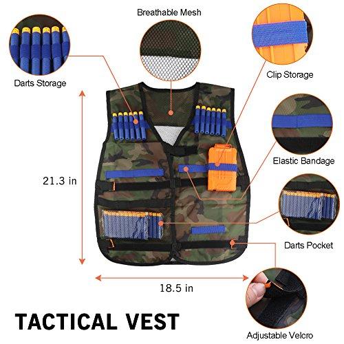 Accmor Kids Tactical Vest Jacket Kit for Nerf Guns N-Strike Elite Series (Camouflage) by Accmor (Image #1)