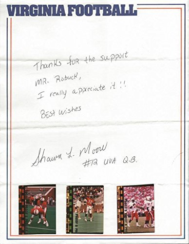 (Shawn Moore Signed Handwritten Letter Virginia UVA - NFL Autographed Miscellaneous Items)