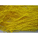 Lyracces Wholesale Lots 50yards Mini Woven Zigzag Rick Rack Ribbon Ric Rac Trims Scrapbooking Dressmaking (5mm, Yellow)