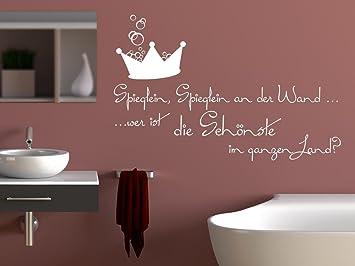 Wandtattoo für Bad Sprüche für Badezimmer Spieglein Spieglein an der ...
