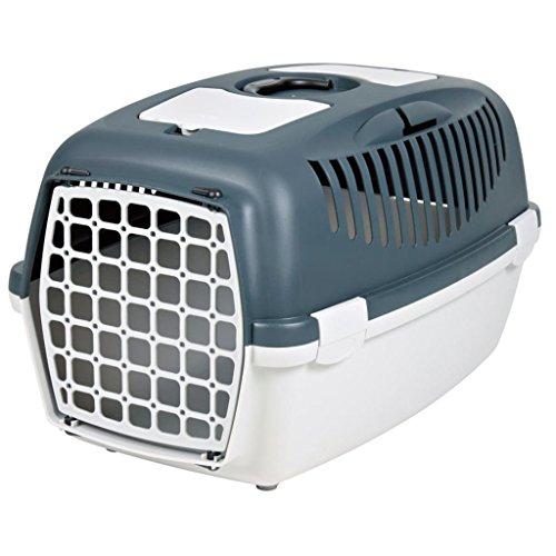 Trixie 39831 Capri 3 Transportador de mascotas, S: 40 × 38 × 61 cm, hasta 12 kg, Gris (Dark Grey / Light Grey)