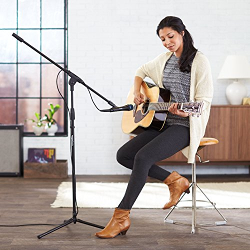 Large Product Image of AmazonBasics Tripod Boom Microphone Stand